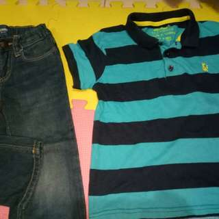 Old Navy Jeans & Rebel Top(Size 6-7y/o)