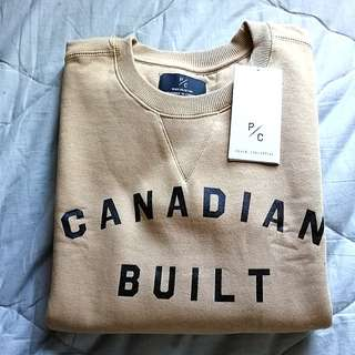 "Peace collective ""Canadian Built"" sweater 