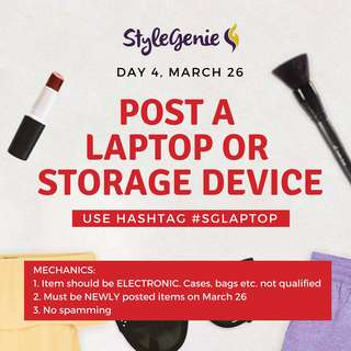 DAY 4: POST A LAPTOP (UNIT/ACCESSORY) OR  STORAGE DEVICE