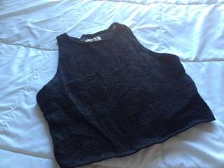 Black Hollister Crop Top