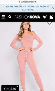 Fashionnova baby pink bodysuit