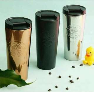 Starbucks tumbler siren (Gold, Silver or Black)