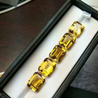 Natural brazil citrine emerald cut 10*12mm approx5.5ct. ,100% citrine loose gemstones