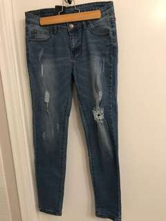 Ripped Jeans Medium Wash - Size 29