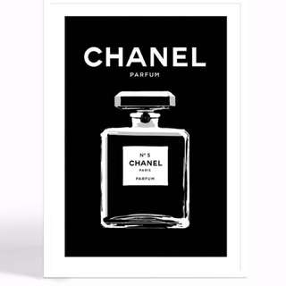 Chanel no 5 wall art PRE ORDER