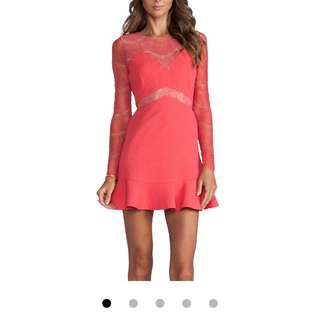 Three Floor Pink Lace Dress