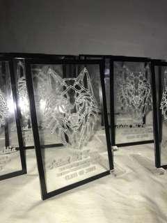 Laser engraved souvenirs