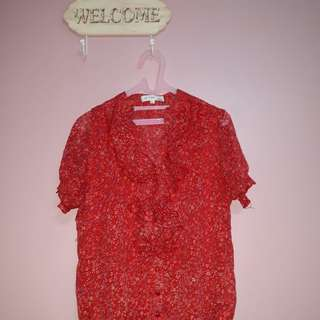 St. Yves Red Blouse
