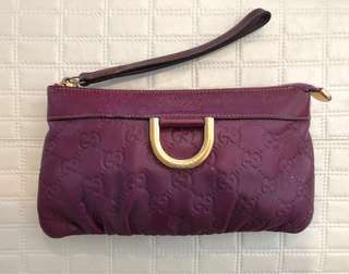 Gucci clutch purple