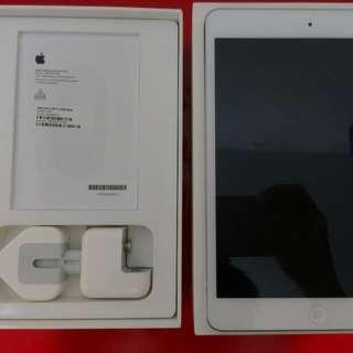 [[真正限時激平!!]]iPad Mini 2 32GB 白色 Wifi 原裝正版有盒+有原裝蘋果火牛+有高貴靚料型銀色皮套送