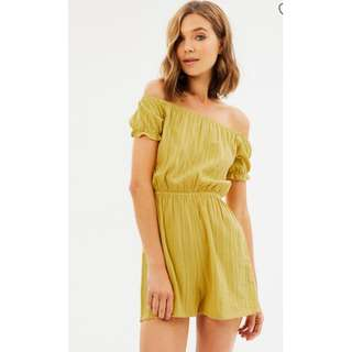 BNWT Mustard Playsuit