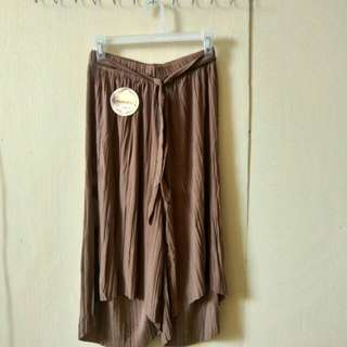Light brown culottes