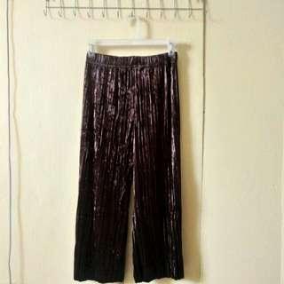 Velvet brown culottes