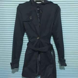 H&M navy Blue long Jacket