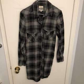 Aritzia flannel dress