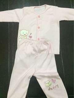 baju size 3m baby girl- baru