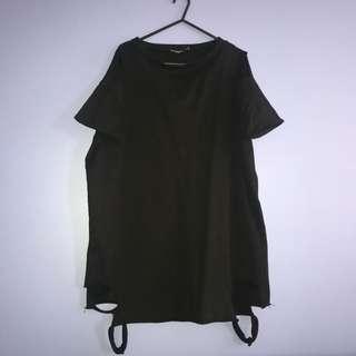 Black Holley T-Shirt Dress