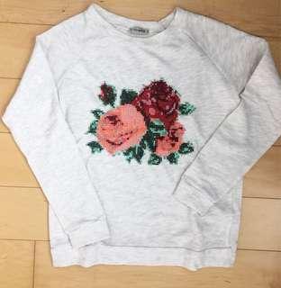 Asos flower sweater