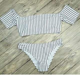 Off-shoulder bikini top