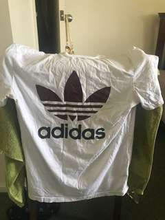 White and Maroon Adidas Unisex Shirt