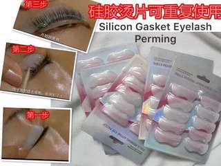 Silicone Gasket Eyelash Curler Curling Perming Kit Apply Eyelash Curling10pc