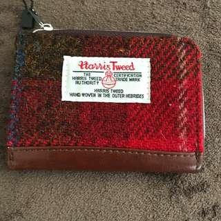 Harris Tweed card & coins holder