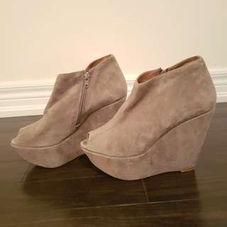 MIMOSA suede wedges size 9 - retail  $150 at browns