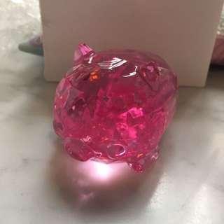 粉紅小豬 仿水晶擺設 冒險樂園