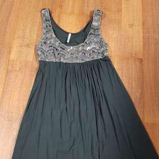 grey sequence dress