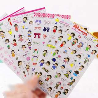 Always Girls Korea stickers