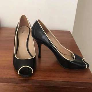 Black and white heels size 8.5