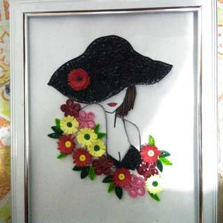 Quilled girl