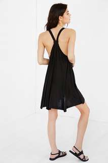 Urban Outfitters Racerback Trapeze Dress - Dark Grey, XS