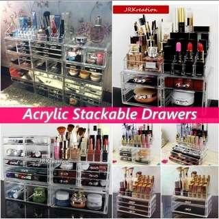 Acrylic Makeup Drawer Organizer storage Cosmetic