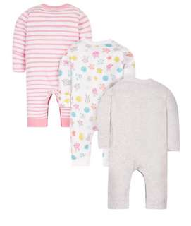 Brand New Mothercare Footless Sleepsuits 3 pack