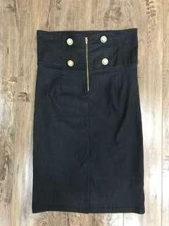 Grey pin skirt