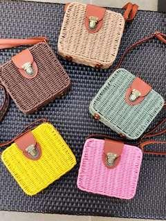 Rattan Straw Woven Bag
