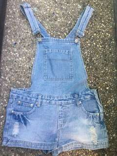 Short Dungaree/Denim Jumper