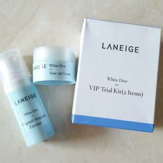PO 2 WEEKS - LANEIGE WHITE DEW VIP TRIAL KIT 2 ITEMS
