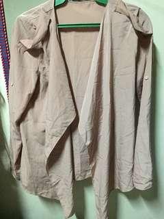Blush-colored unbranded blazer