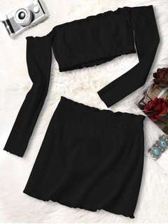 NWT Crop Top + Skirt Set - Fits XS/S