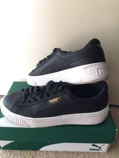 Puma leather look Basket shoes
