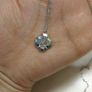 Kashikey .40 carat brown diamond long chain