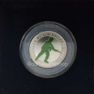 SAF Army Glow In Dark Silver Coin Medallion