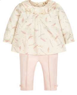 Brand New Mothercare  Blouse and Leggings Set by Julien Mcdonald Size 2-3 years