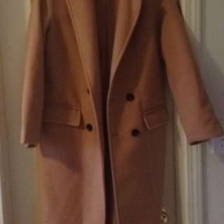 Long Camel Coat from Forever21