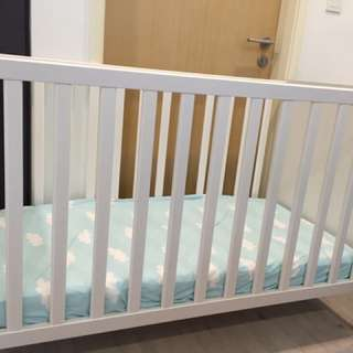 IKEA Baby Cot With Mattress And Linen