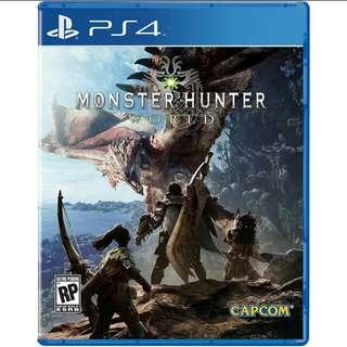 (Newly Released) PS4 Monster Hunter World/Region 1