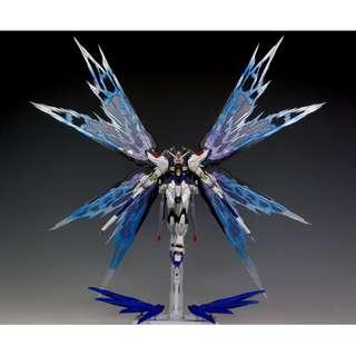 Gundam Metal Build Strike Freedom with Wing of Light Option Set Destiny SEED Composite