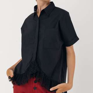LABEL8STORE black lora shirt